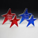 Ruby and Sapphire Star Patriotic Trophies & Awards